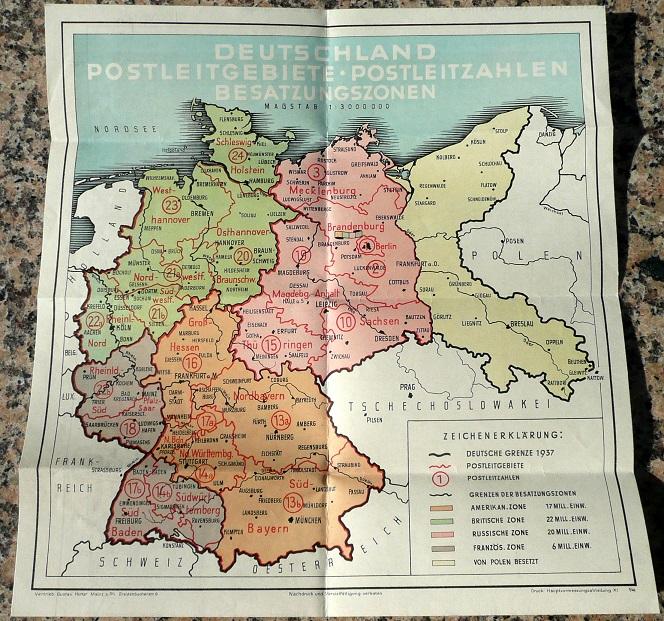 Postleitzahlen Karte Brandenburg.Historische Karte Deutschland Postleitzahlen Flohmarkt Siegener